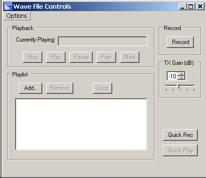 wave file controls