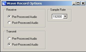 wave record         options